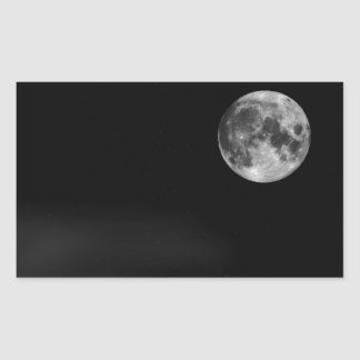 The Full Moon Rectangular Sticker