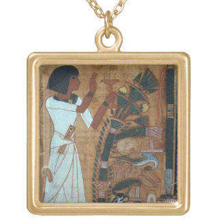 The Fumigation of Osiris, page from the Book of th Gold Plated Necklace