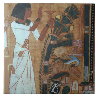 The Fumigation of Osiris, page from the Book of th Tile