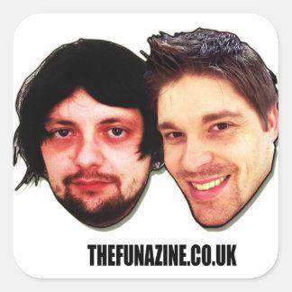 The funazine shop square sticker