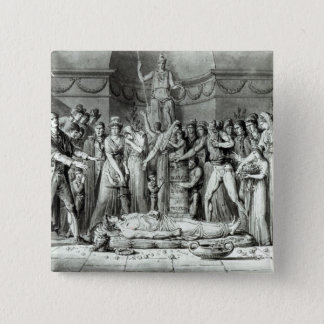 The Funeral of Jean Paul Marat 15 Cm Square Badge