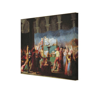 The Funeral of Marat in the Ancient Church Canvas Print
