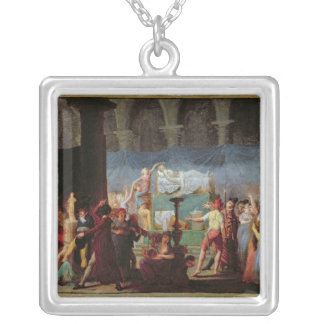 The Funeral of Marat in the Ancient Church Silver Plated Necklace