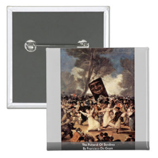 The Funeral Of Sardina By Francisco De Goya 15 Cm Square Badge
