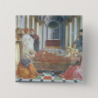 The Funeral of St. Stephen, detail from the cycle 15 Cm Square Badge
