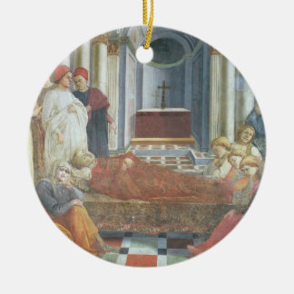 The Funeral of St. Stephen, detail from the cycle Christmas Ornament