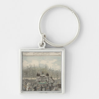 The Funeral of the Emperor of Brazil Key Ring