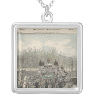 The Funeral of the Emperor of Brazil Silver Plated Necklace