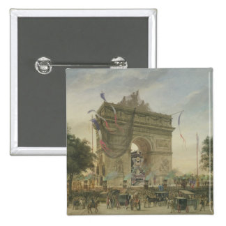 The Funeral of Victor Hugo  1885 15 Cm Square Badge