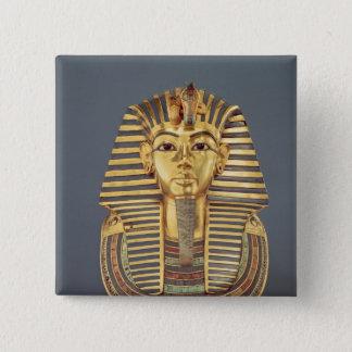 The funerary mask of Tutankhamun 15 Cm Square Badge