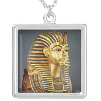 The funerary mask of Tutankhamun Silver Plated Necklace