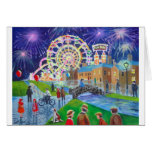 the FunFair oil painting Gordon Bruce art Greeting Cards