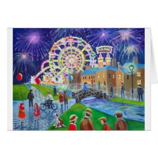 the FunFair oil painting Gordon Bruce art Greeting Card