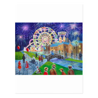 the FunFair oil painting Gordon Bruce art Postcard