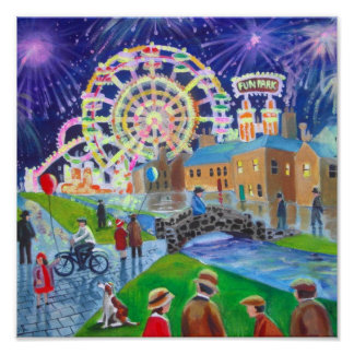 the FunFair oil painting Gordon Bruce art Poster