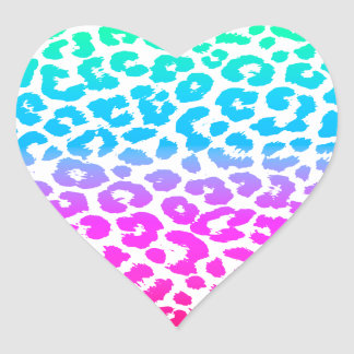 The Funky Leopard Heart Sticker