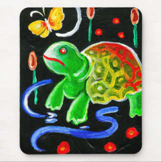 The Funky Turtle Mouse Pad