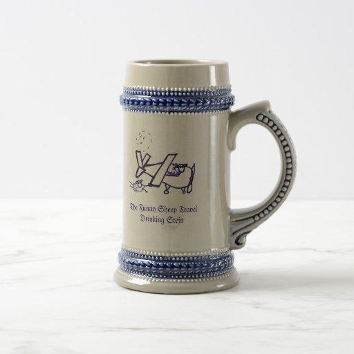 The Funny Sheep Travel Drinking Stein Coffee Mugs