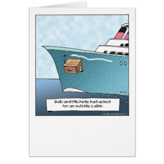 The Funny Side of Cruising greeting card-3 Card
