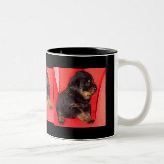 The Fur Ball Rottweiler Two-Tone Mug