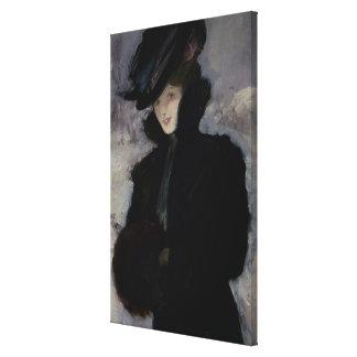 The Fur Coat Canvas Print
