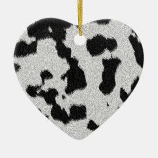 The fur collection - Dalmatian Fur Ceramic Heart Decoration