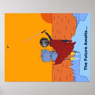 The Future Awaits - Inspirational Poster