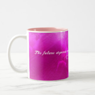 The future depends on what we do in the present Two-Tone mug