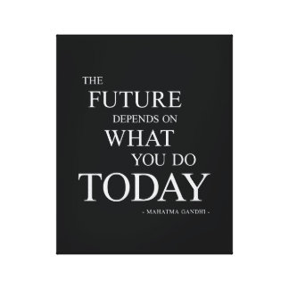 The Future Inspirational Motivational Quote Canvas Print