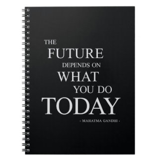 The Future Inspirational Motivational Quote Note Book