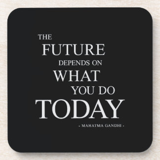 The Future Inspiring Motivational Quote Coasters