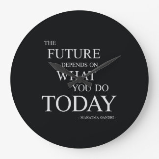The Future Inspiring Motivational Quote Wall Clocks