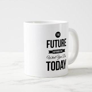 The Future Inspiring Quote White Jumbo Mug
