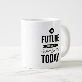 The Future Inspiring Quote White Large Coffee Mug