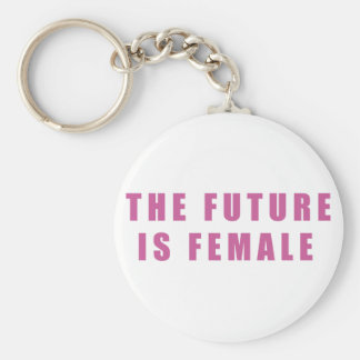 The Future Is Female Basic Round Button Key Ring