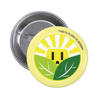 The Future is Green 6 Cm Round Badge