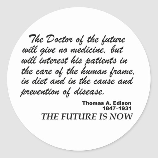 the future is now for natural Healthcare Sticker