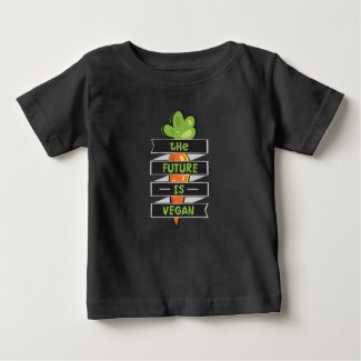 The Future Is Vegan Baby T-Shirt