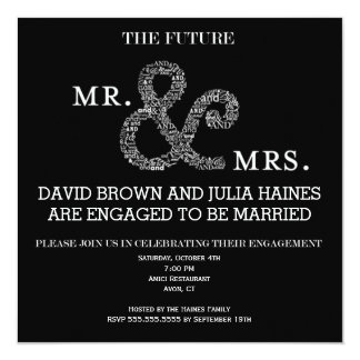 The Future Mr. and Mrs. Engagment Party Invitation