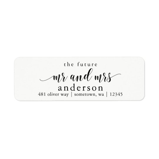 The Future Mr and Mrs Glyph Return Address