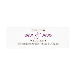 The Future Mr and Mrs Return Address