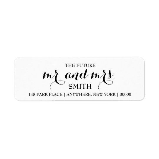 The Future MR & MRS Return Address Labels