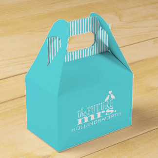 The Future Mrs.-Blue Wedding Party Favour Boxes