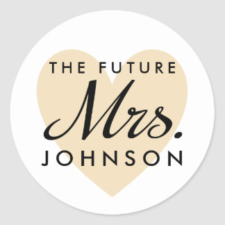 The Future Mrs. Classic Round Sticker