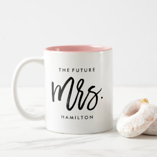 The Future Mrs. Personalised Engagement Two-Tone Coffee Mug