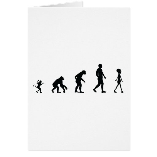 The Future of Human Evolution Greeting Cards