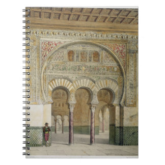 The Gallery of the Court of Lions at the Alhambra, Notebook
