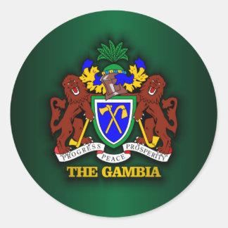 The Gambia COA Round Sticker