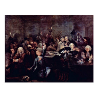 "The Gambling Den "" By Hogarth William Postcard"