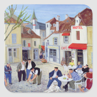 The Game Burgundy Square Sticker